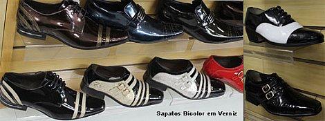 Sapatos bicolor em verniz