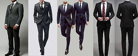 Ternos Slim Fit e calça skinny
